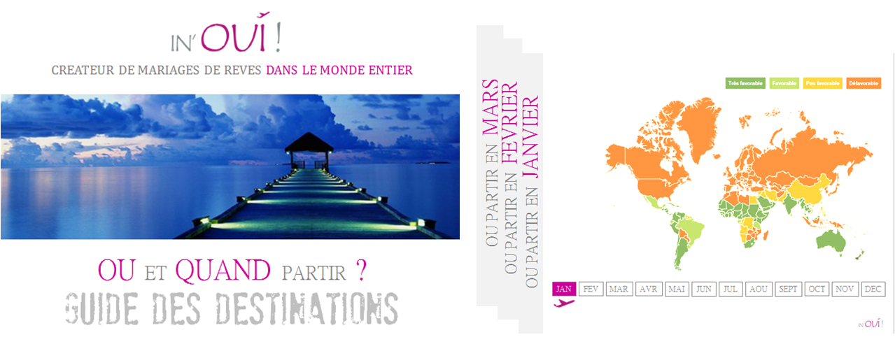 Guide des destinations Ou et Quand partir by IN'OUI