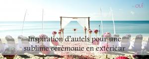 Article Inspirations d'autels pour une sublime cérémonie extérieure