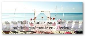 Idées d'autels pour une sublime cérémonie en extérieur by IN'OUI