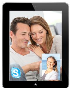 écran skype